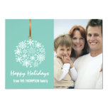 Snowflake Christmas Holiday Photo Card -ice water Personalized Invite