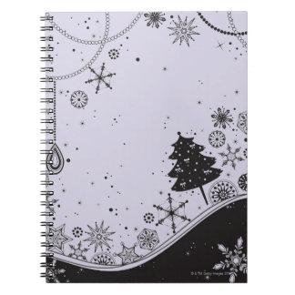 Snowflake Christmas Illustration Notebook