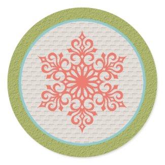 Snowflake Christmas Invitations Envelope Seals sticker