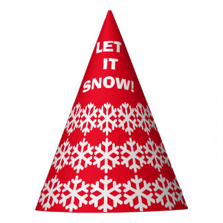 Snowflake Christmas - Let it snow! Party Hat