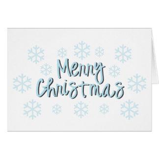 Snowflake Christmas Notecard