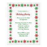 Snowflake Christmas Party Invitations