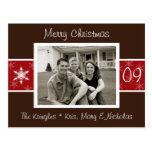 Snowflake Christmas Photo Card Post Card