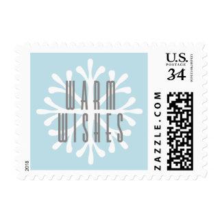Snowflake Christmas Postage Stamp