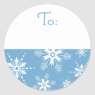 Snowflake Christmas Tag - Blue