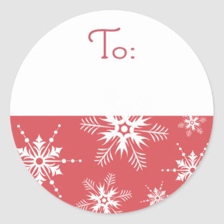 Snowflake Christmas Tag - Red