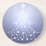 snowflake Christmas tree coaster Blue