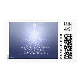 snowflake Christmas tree Stamp Blue