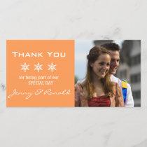 Snowflake Christmas Wedding Thank You PhotoCard