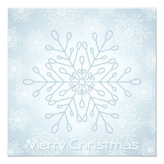 "Snowflake Christmascard 5.25"" Square Invitation Card"