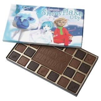 Snowflake City Happy Birthday Chocolates