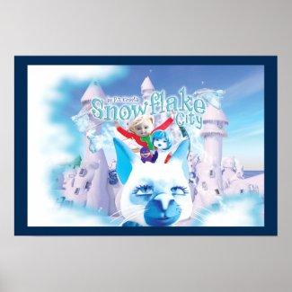 "Snowflake City Poster 19"" x 13"""