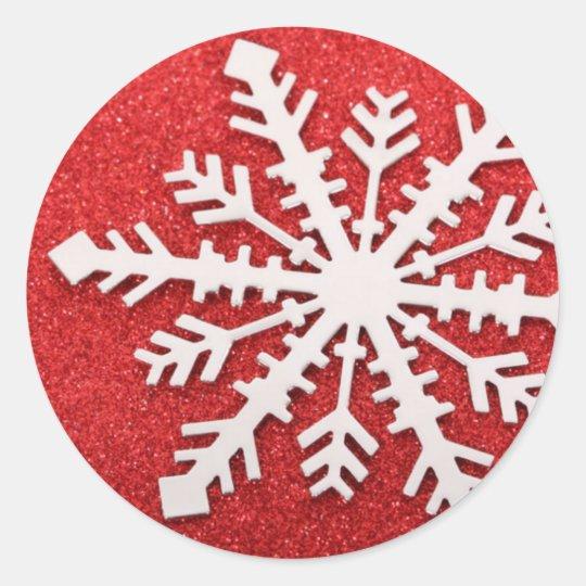 Snowflake Classic Round Sticker
