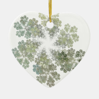 Snowflake Clusters Double-Sided Heart Ceramic Christmas Ornament