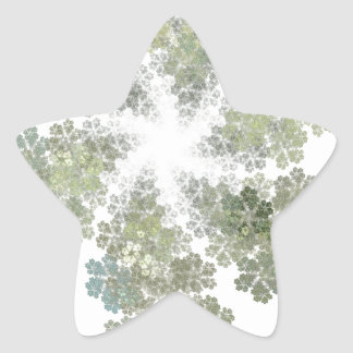 Snowflake Clusters Star Sticker