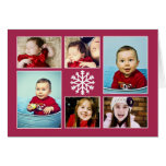 SNOWFLAKE COLLAGE   HOLIDAY GREETING CARD