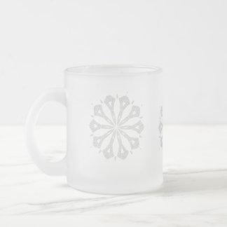 Snowflake  Collection 10 Oz Frosted Glass Coffee Mug