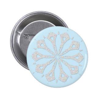 Snowflake  Collection Pinback Button