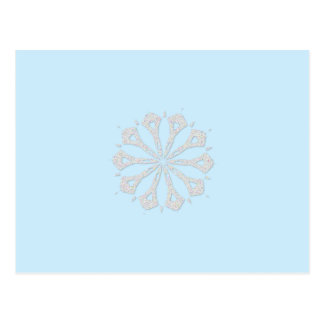 Snowflake  Collection Postcard