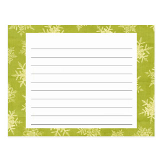 Snowflake Covered Christmas Recipe Card