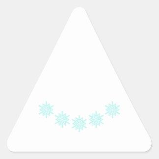 SNOWFLAKE CREW NECK TRIANGLE STICKER