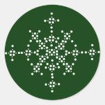 Snowflake Customize Color Sticker