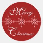 Snowflake Customize Merry Christmas Sticker