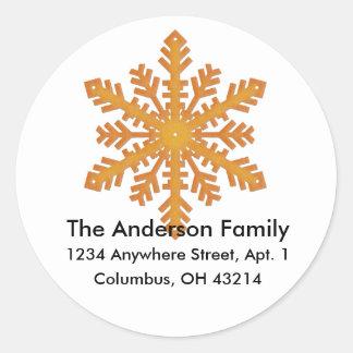 Snowflake D1 Return Address Labels