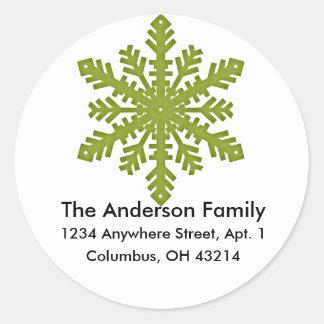 Snowflake D3 Return Address Labels