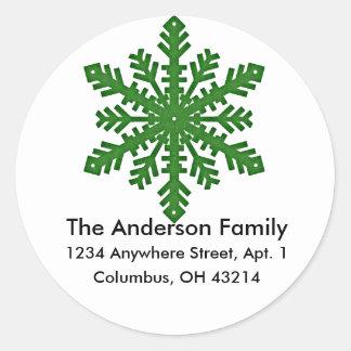 Snowflake D4 Return Address Labels