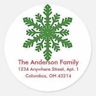 Snowflake D4c Return Address Labels