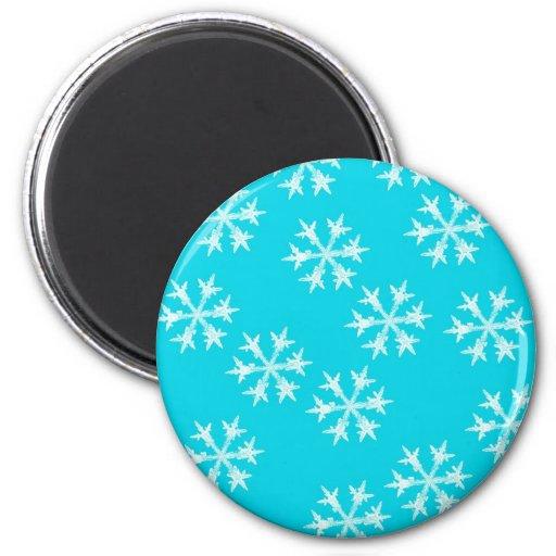 Snowflake Design 2 Inch Round Magnet