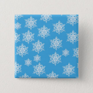 Snowflake Design Button