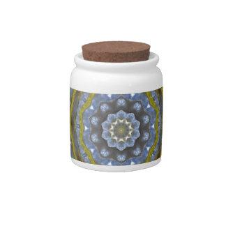 Snowflake design candy jar