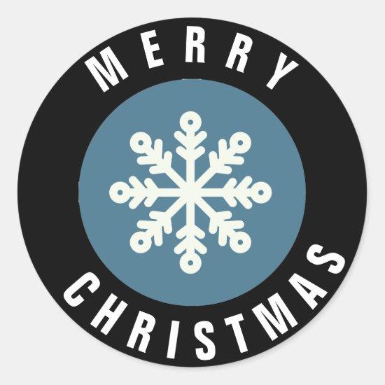 Snowflake Design Christmas Sticker