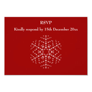Snowflake Design in Dark Red and White. Card