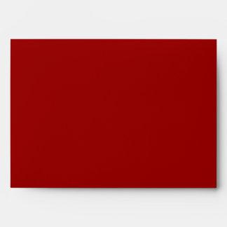 Snowflake Design in Dark Red and White. Envelope