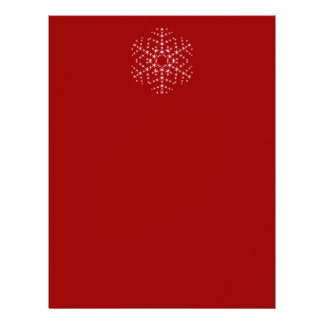 Snowflake Design in Dark Red and White. Letterhead