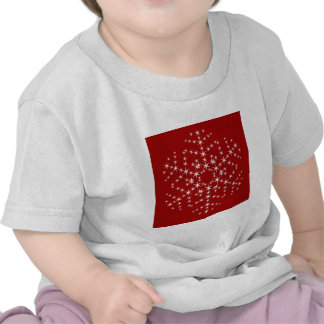 Snowflake Design in Dark Red and White. Shirt