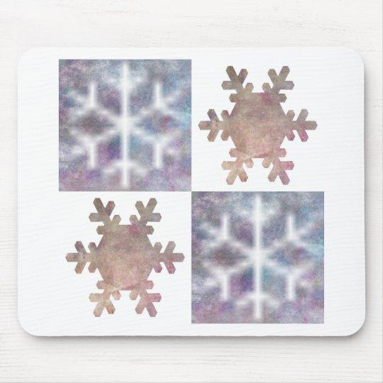 Snowflake Design Mouse Pad