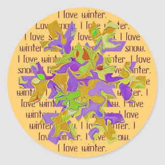 snowflake dream classic round sticker