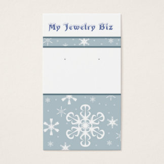Snowflake Earring Cards