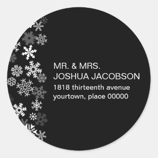 Snowflake Edge Bar Mitzvah Return Address Sticker