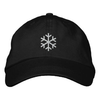 Snowflake Embroidered Baseball Cap