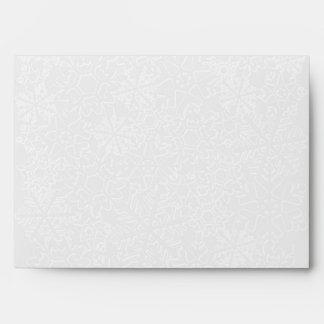 Snowflake Envelope - A7 Greeting card