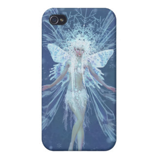 Snowflake fairy queen cover for iPhone 4