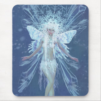 Snowflake fairy queen mouse pad