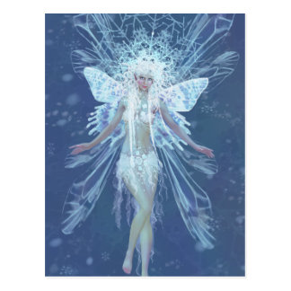 Snowflake fairy queen post cards