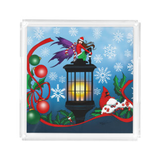 Snowflake Fairy Square Serving Trays
