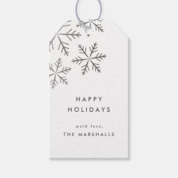Snowflake Faux Foil Holiday gift tags Pack of 10